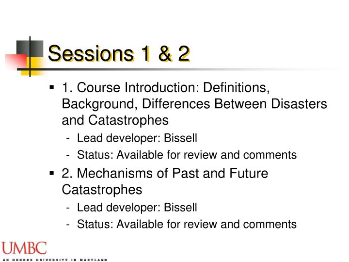 Sessions 1 & 2