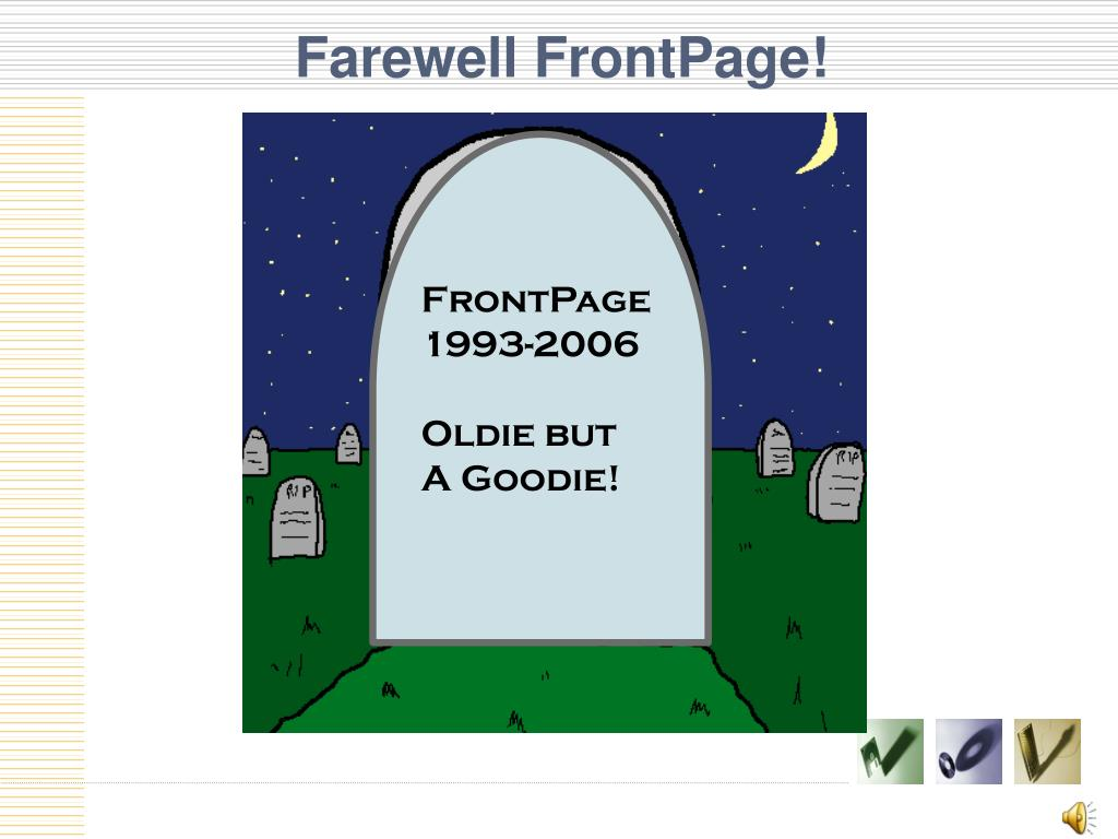 Farewell FrontPage!