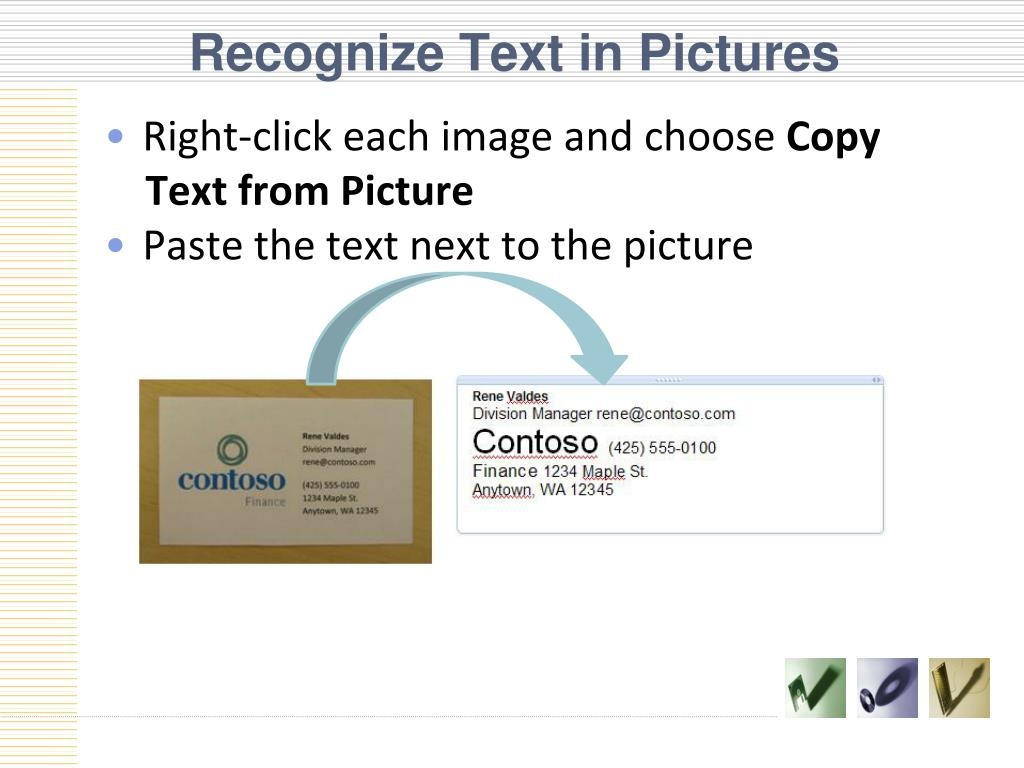 Recognize Text in Pictures