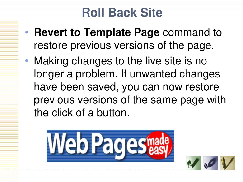 Roll Back Site