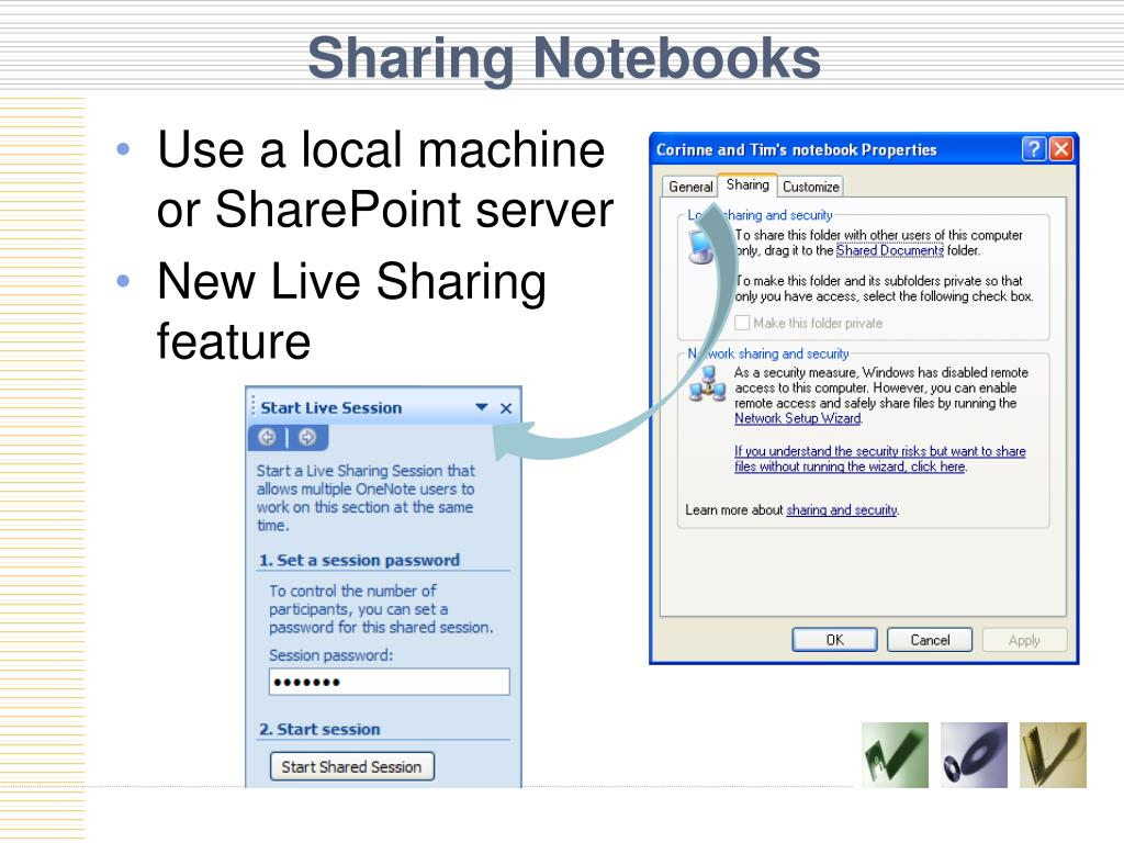 Sharing Notebooks