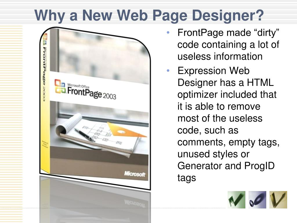 Why a New Web Page Designer?