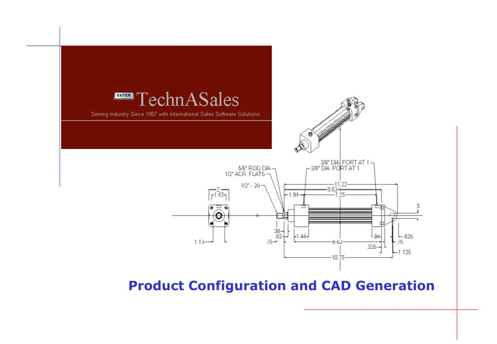 Product Configuration and CAD Generation
