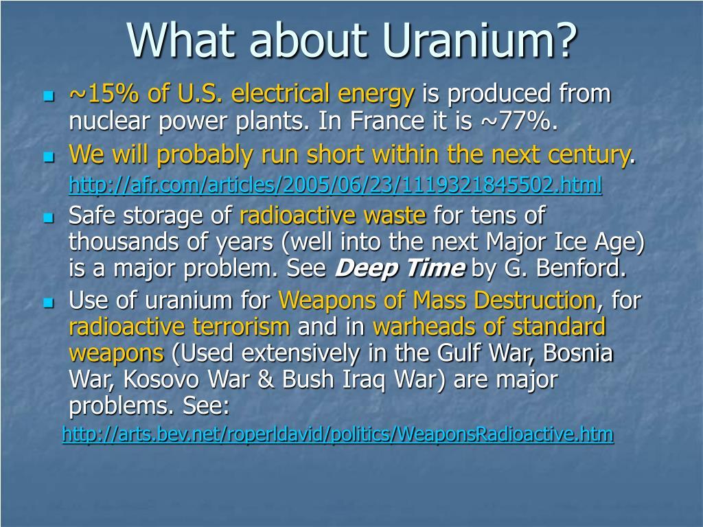 What about Uranium?