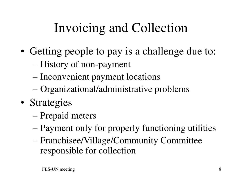 Invoicing and Collection
