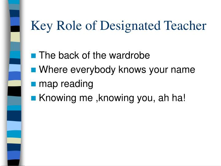 Key Role of Designated Teacher