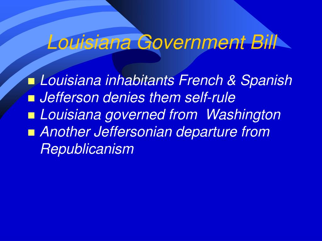 Louisiana Government Bill