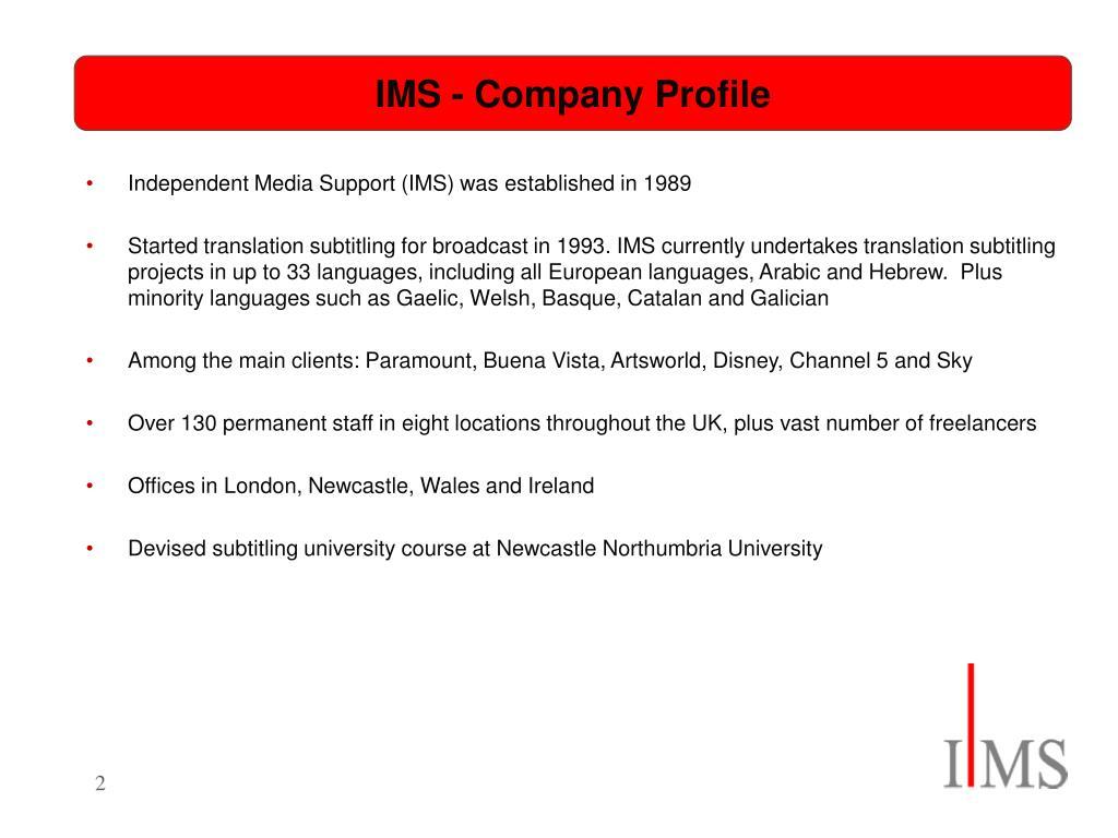 IMS - Company Profile