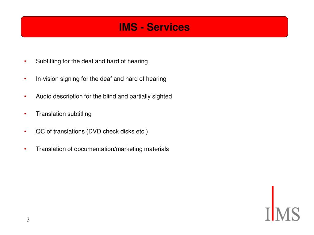 IMS - Services