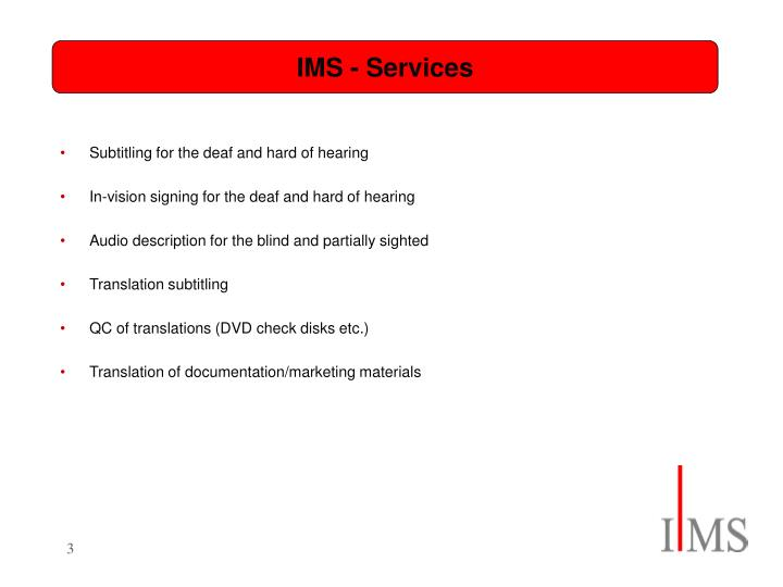 Ims services