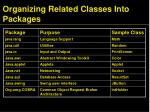 organizing related classes into packages2