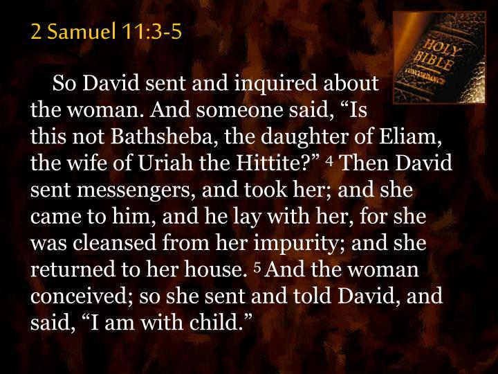 2 Samuel 11:3-5