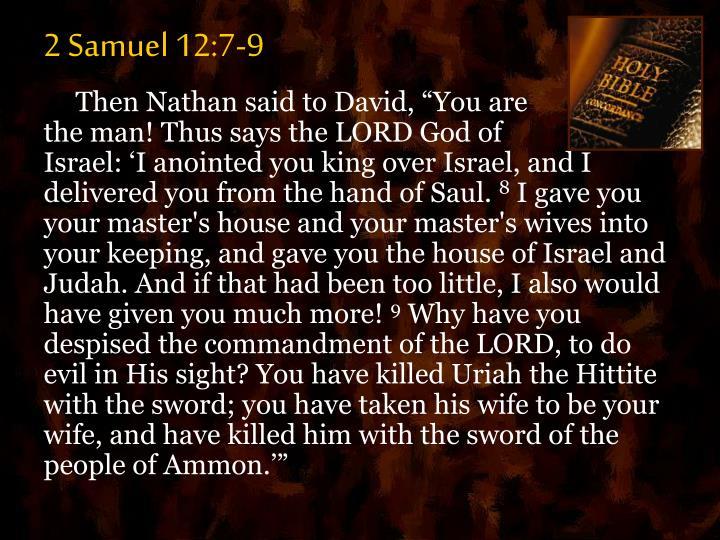 2 Samuel 12:7-9