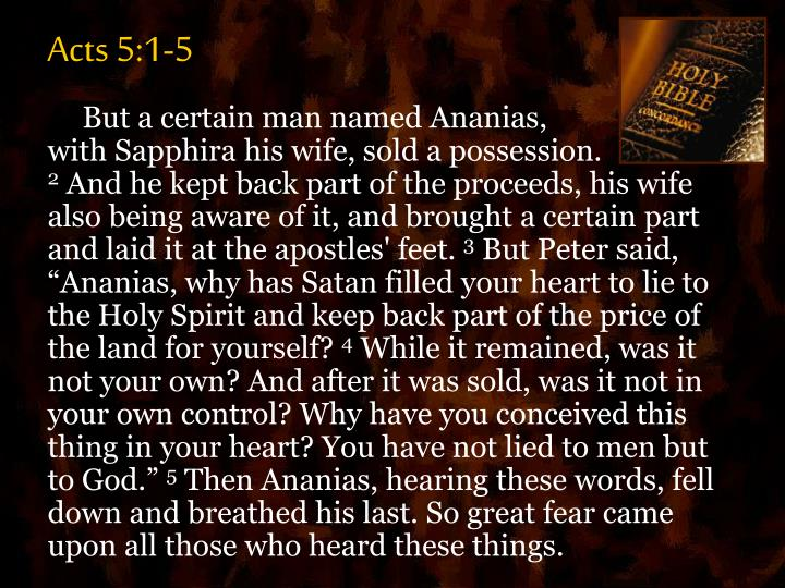 Acts 5:1-5