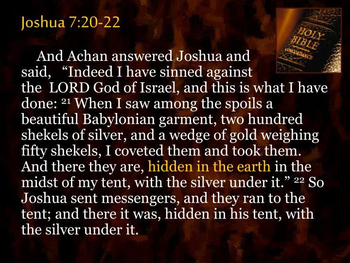 Joshua 7:20-22