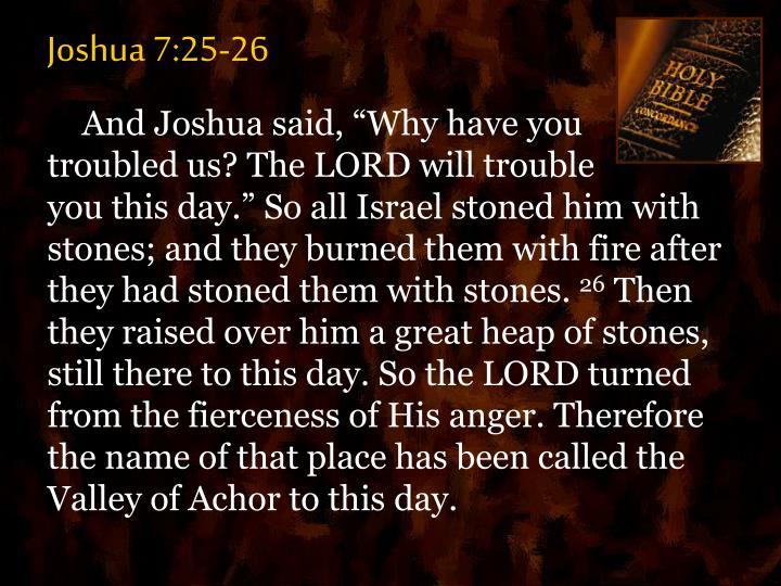 Joshua 7:25-26