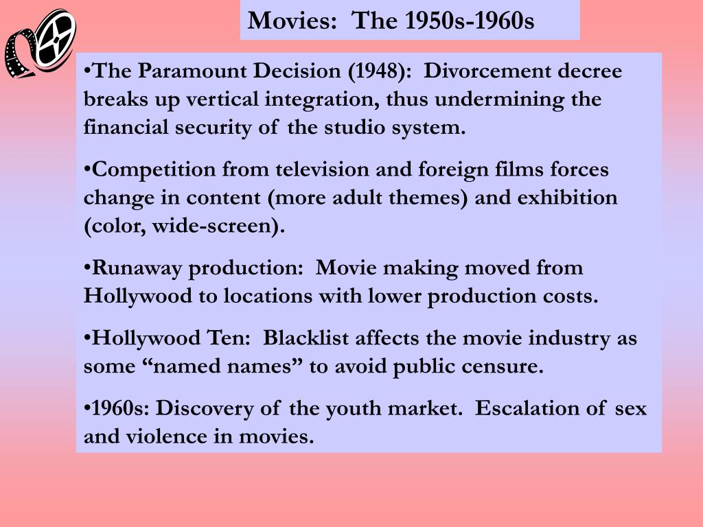 Movies:  The 1950s-1960s