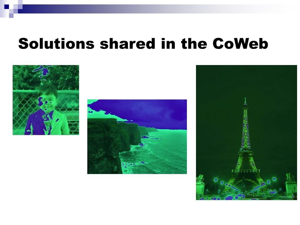 Solutions shared in the CoWeb