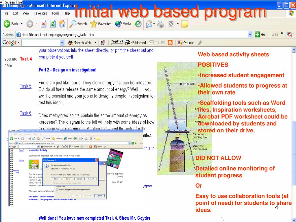 Initial web based program