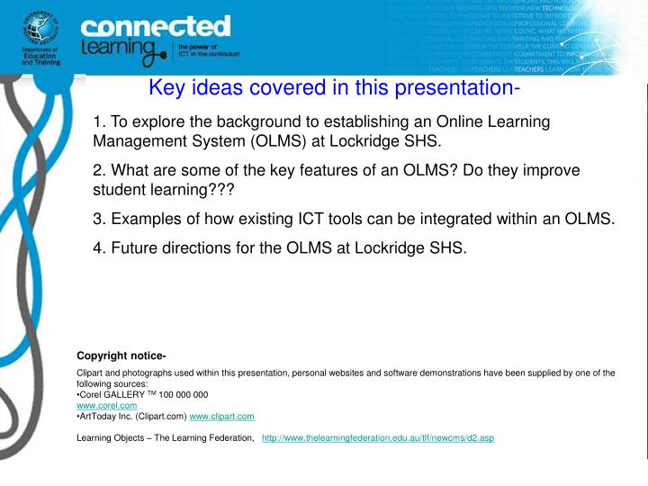 Key ideas covered in this presentation-