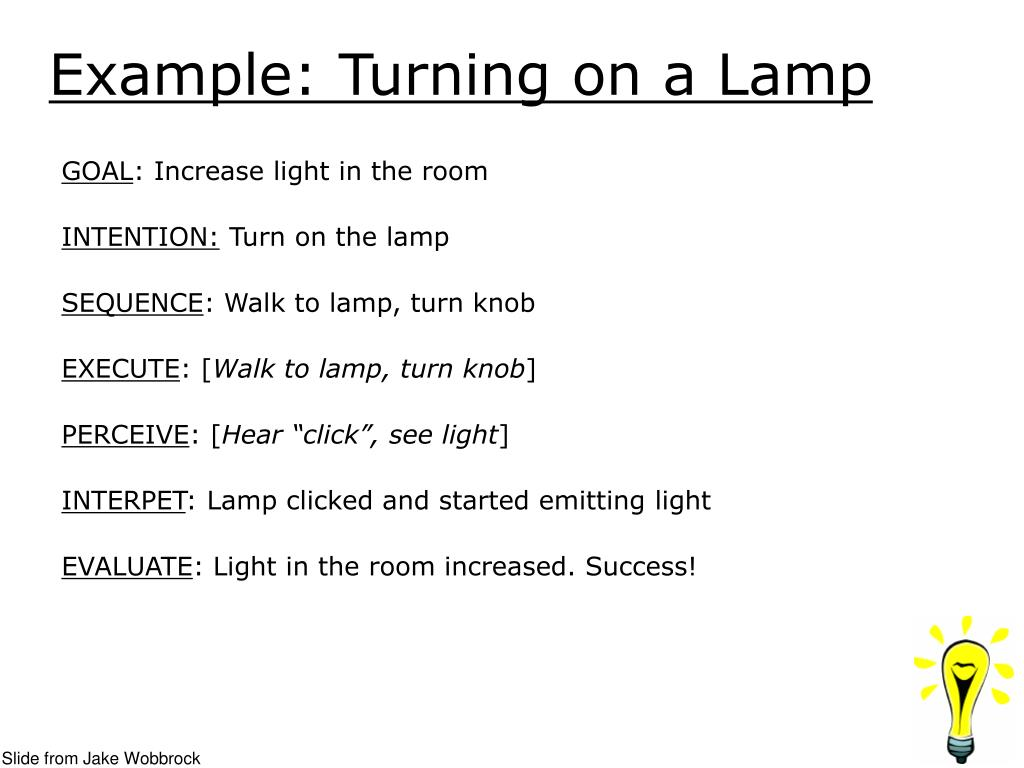 Example: Turning on a Lamp