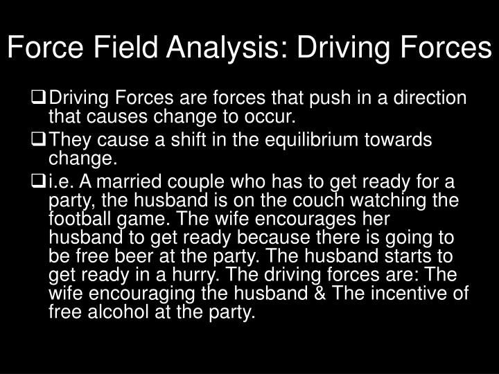 Force field analysis driving forces
