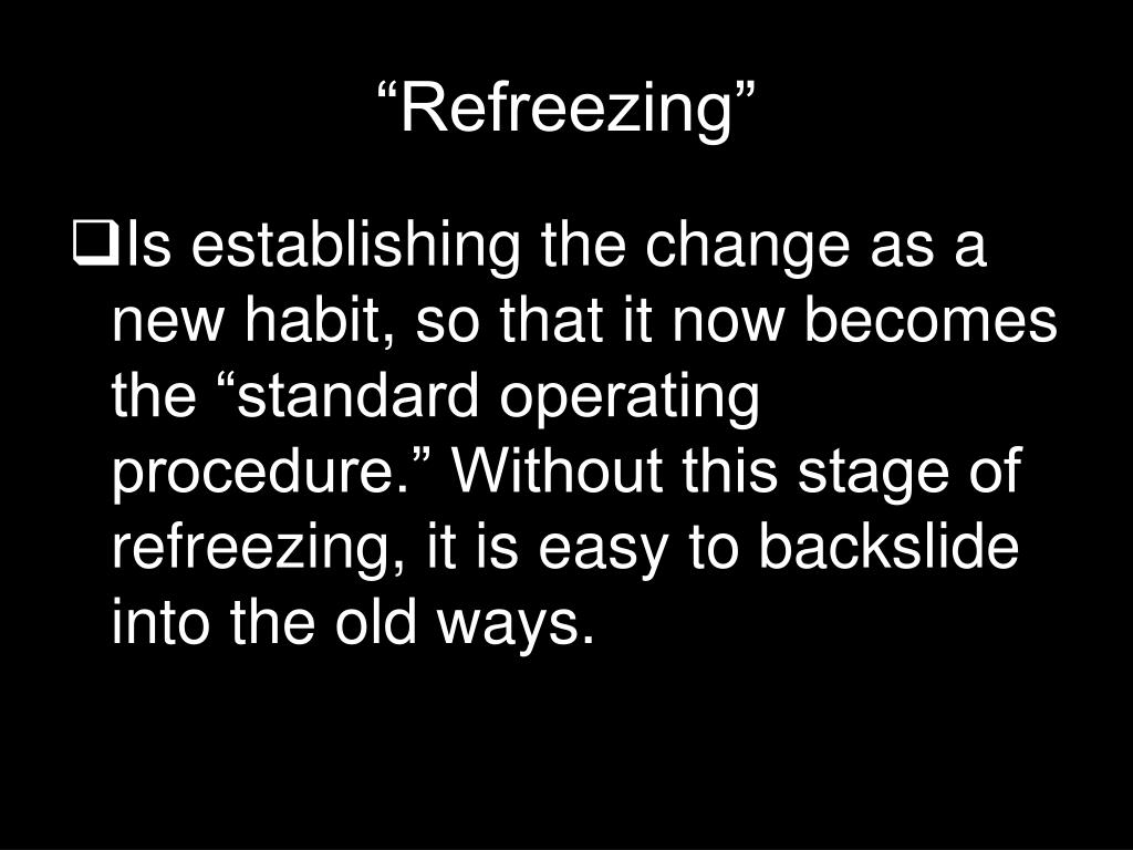 """""""Refreezing"""""""