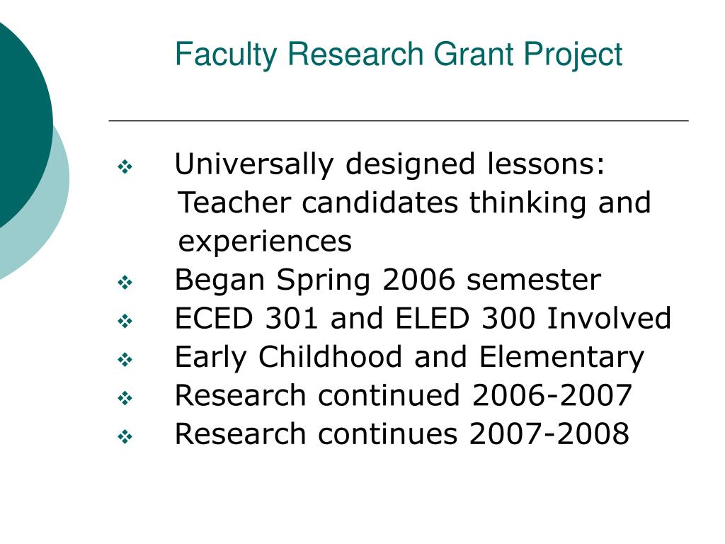 Faculty Research Grant Project
