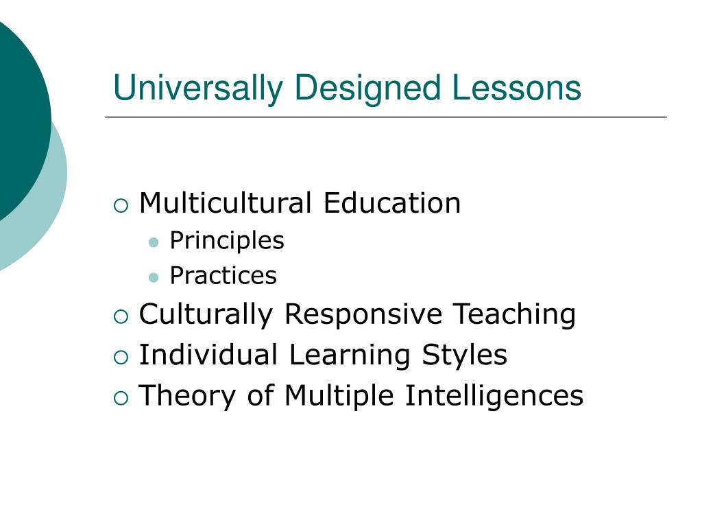Universally Designed Lessons