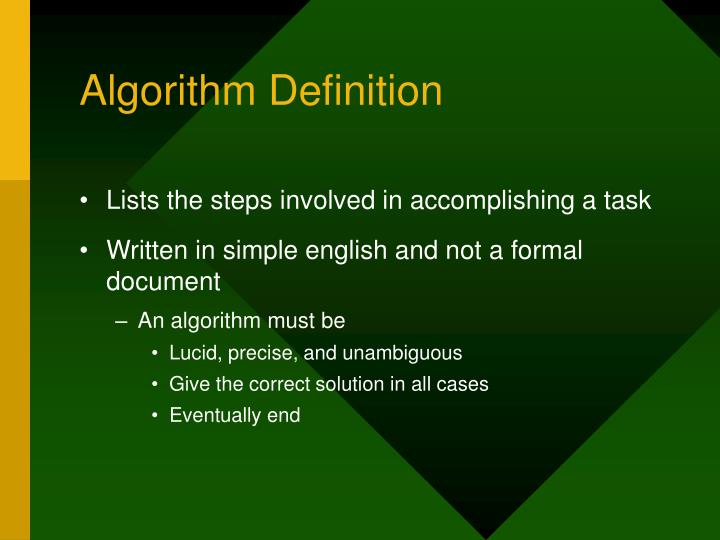 Algorithm Definition
