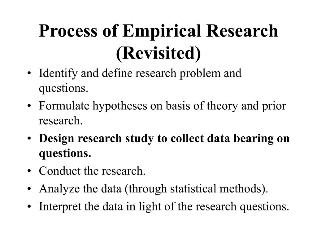 Process of Empirical Research (Revisited)