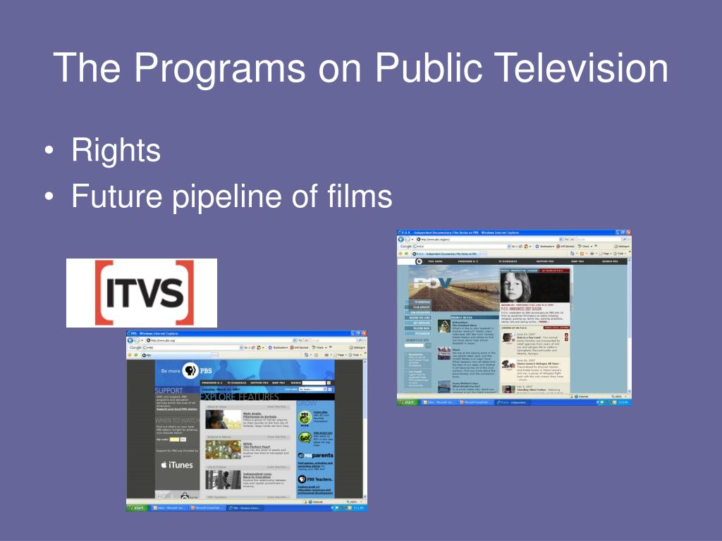 The Programs on Public Television
