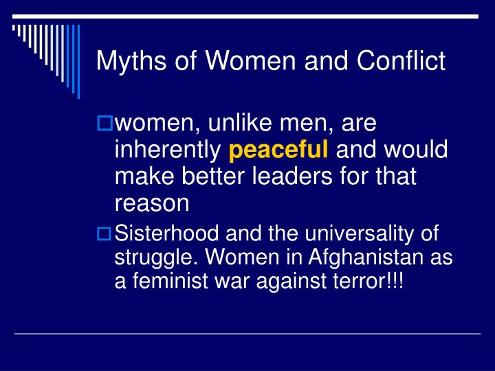 Myths of women and conflict