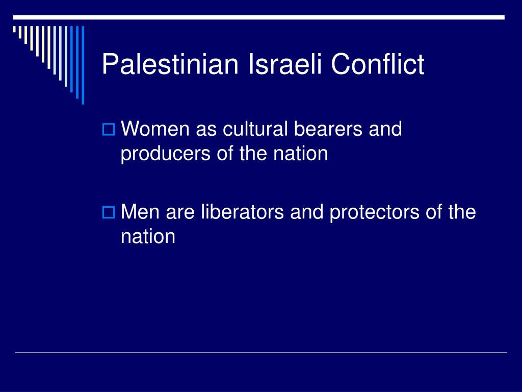 Palestinian Israeli Conflict