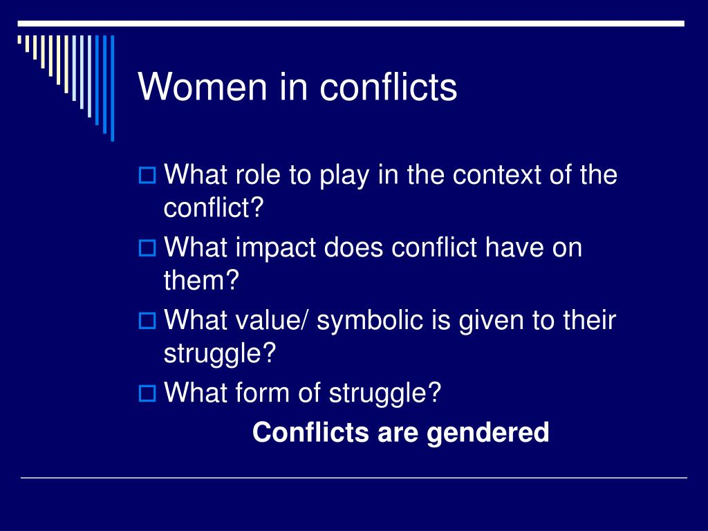 the role of conflict in the 1 article 9 the role of african women in peace building and conflict resolution: the case of burundi damilola taiye agbalajobi department of political science and.