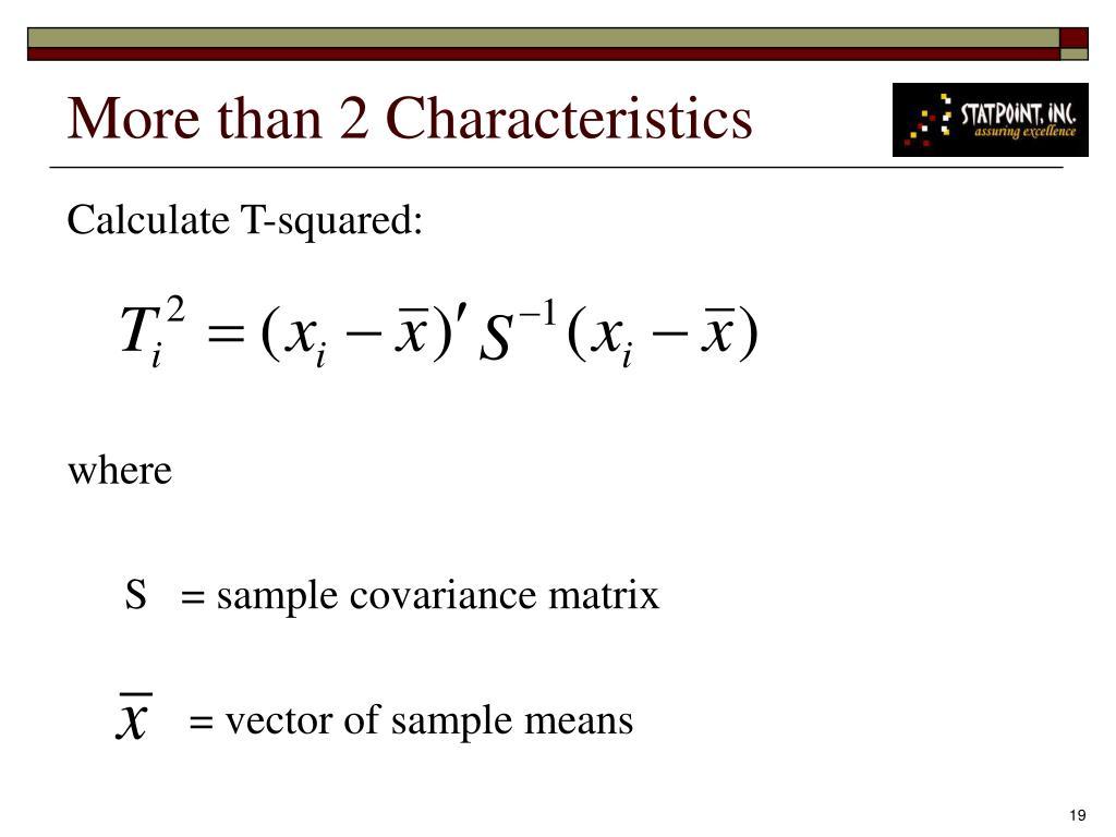 More than 2 Characteristics