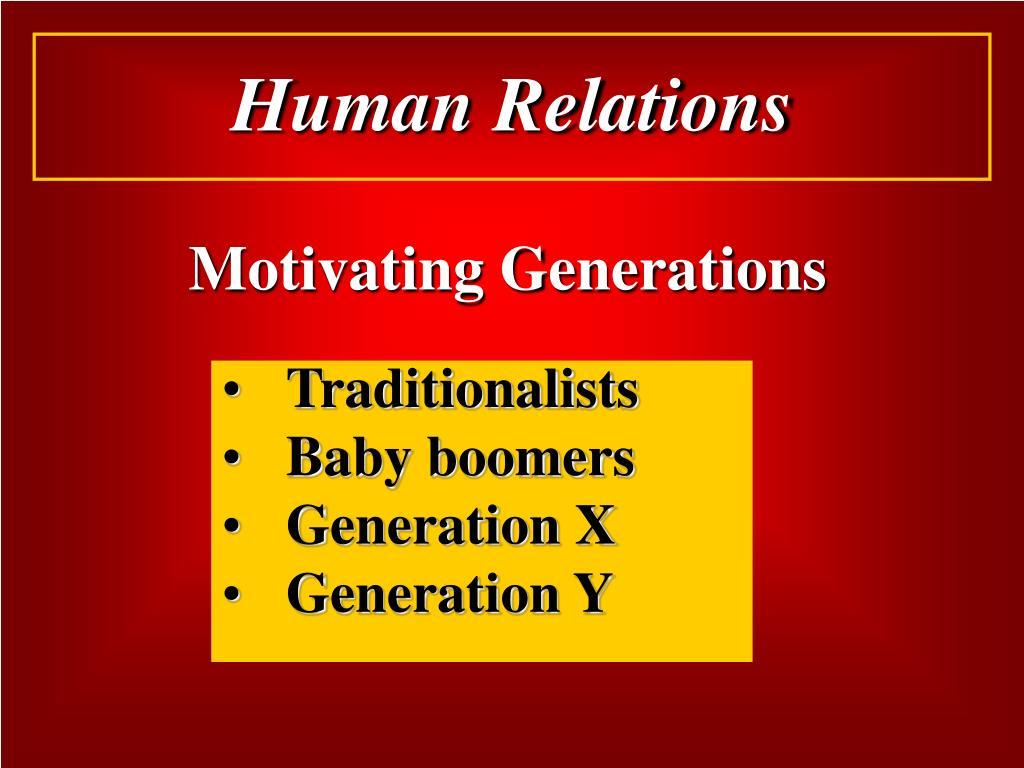 Motivating Generations