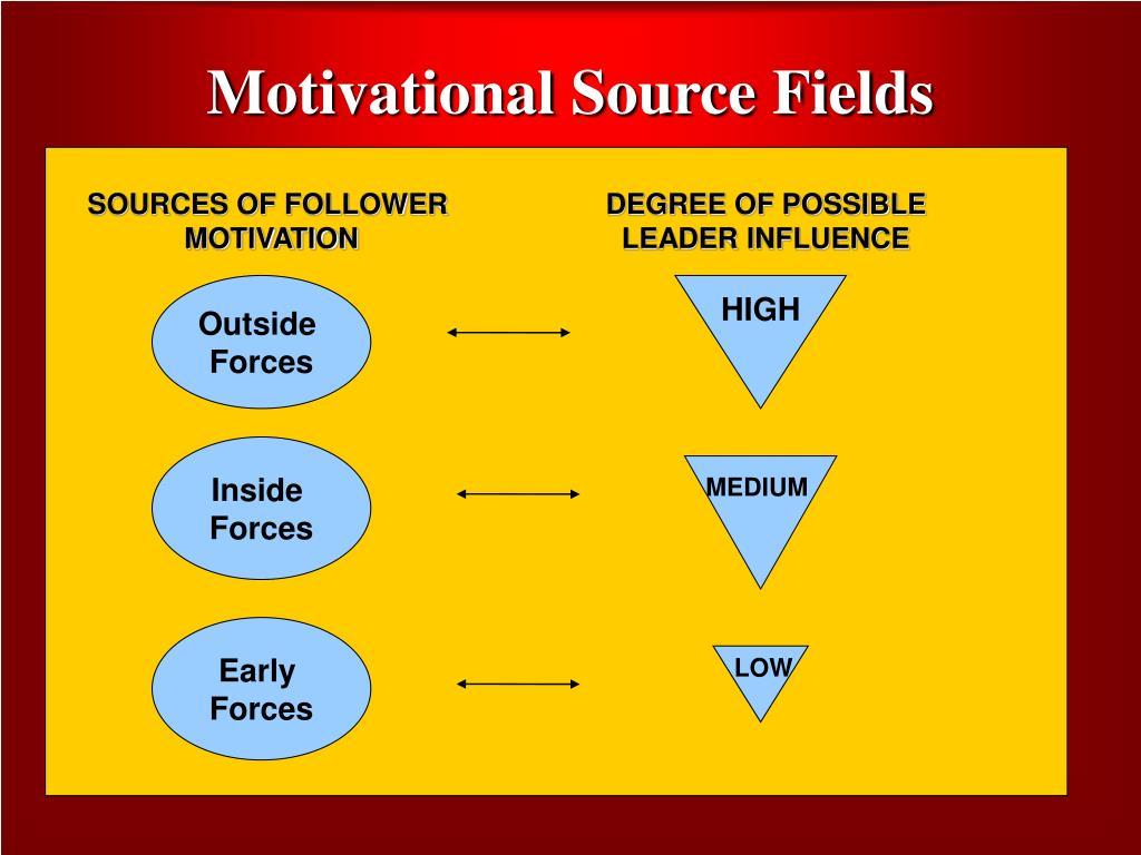 Motivational Source Fields
