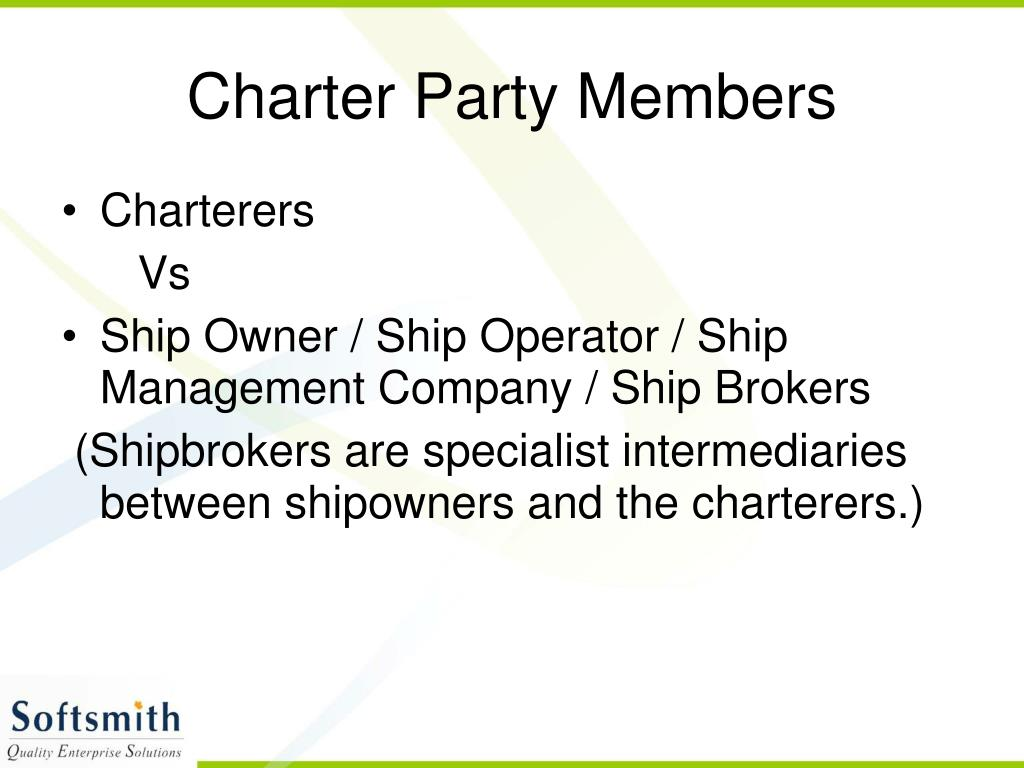 Charter Party Members