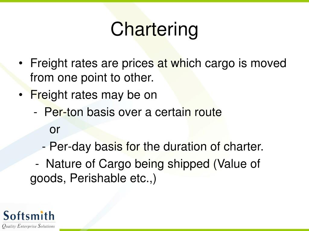 Chartering