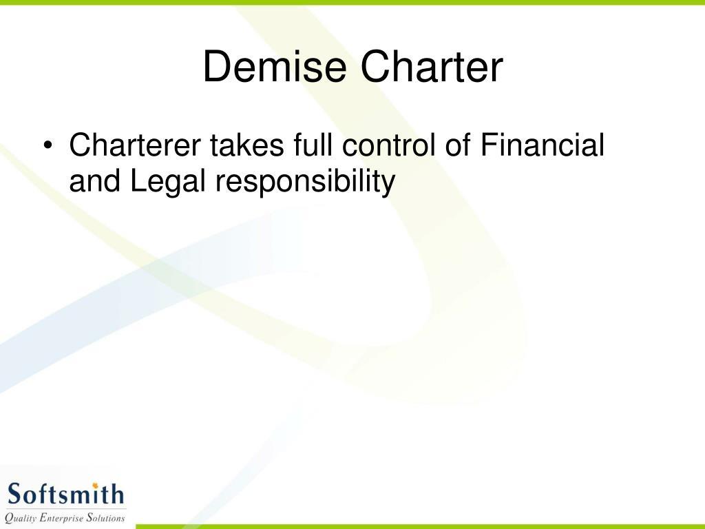 Demise Charter