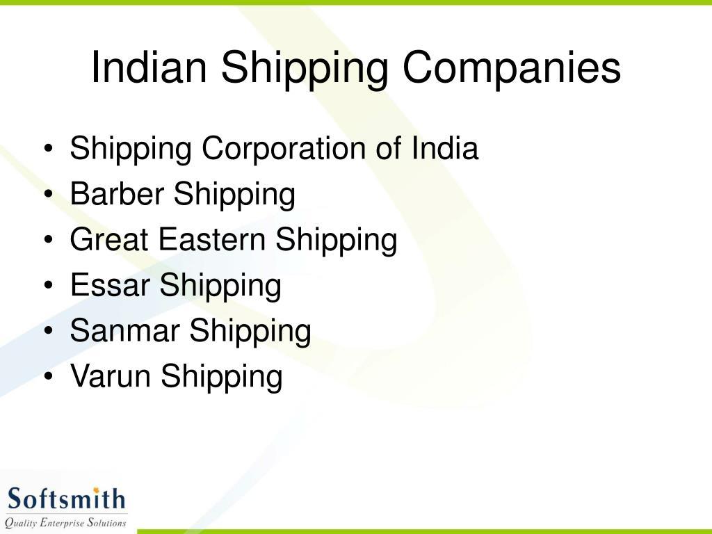 Indian Shipping Companies