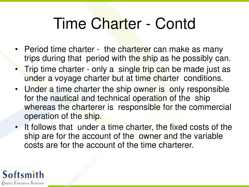 Time Charter - Contd