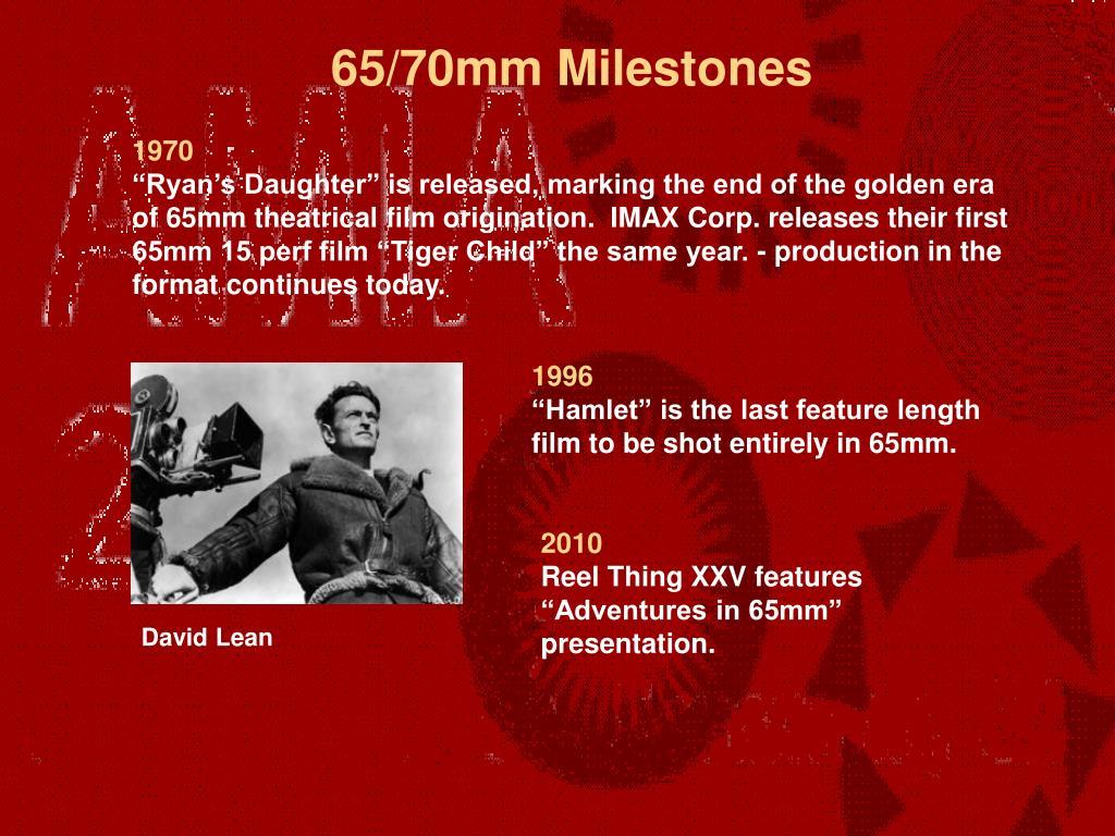 65/70mm Milestones