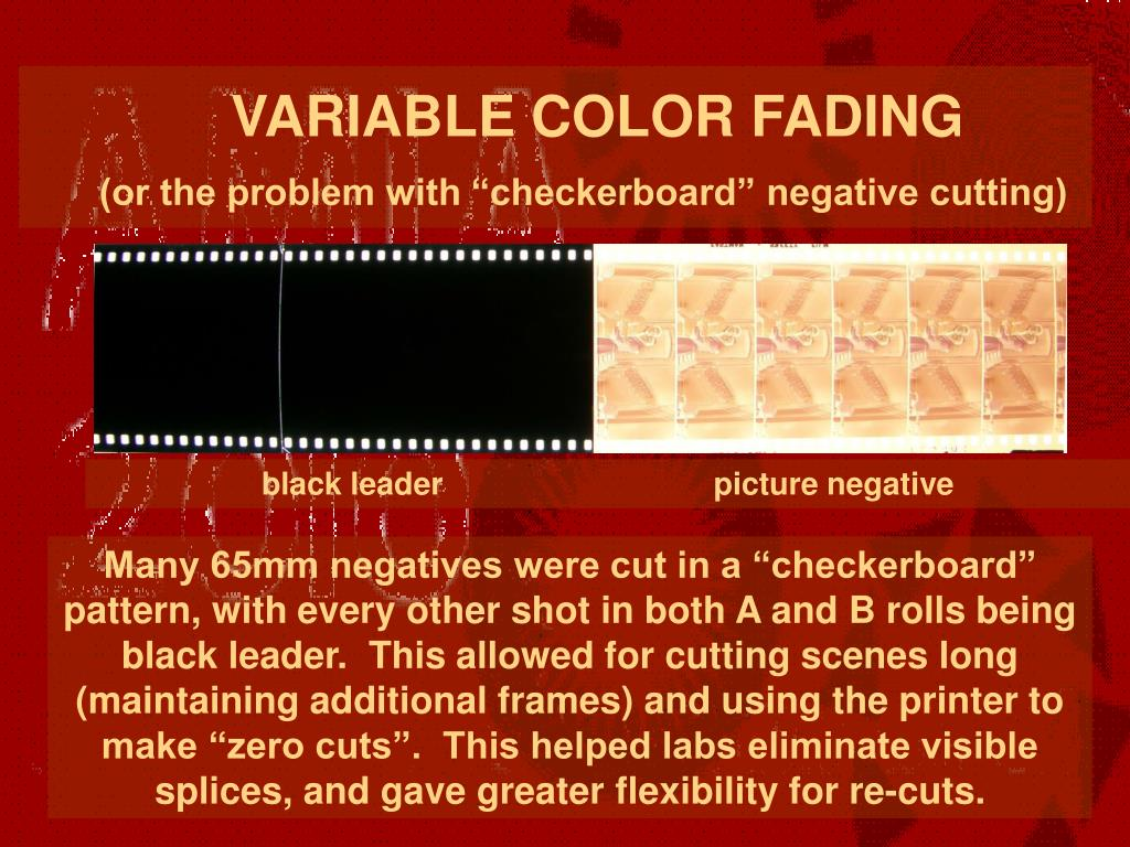 VARIABLE COLOR FADING