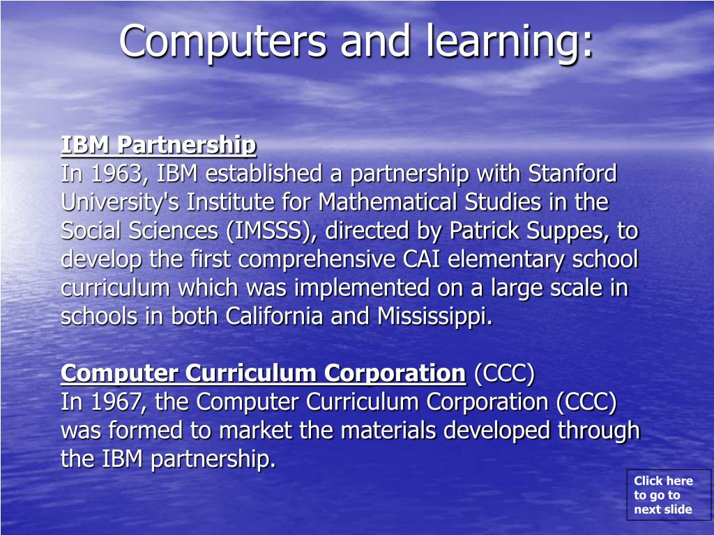 Computers and learning: