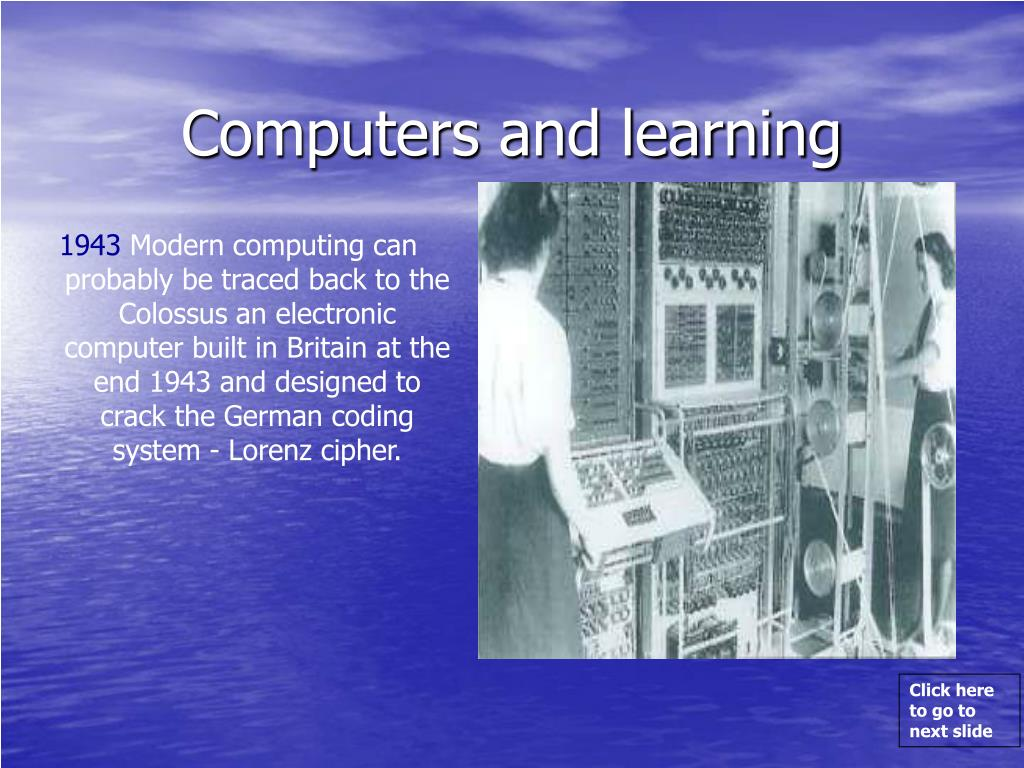 Computers and learning
