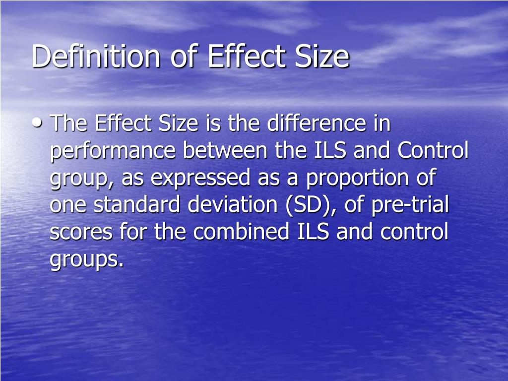 Definition of Effect Size
