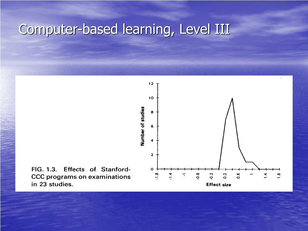 Computer-based learning, Level III