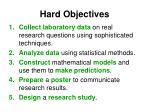 hard objectives